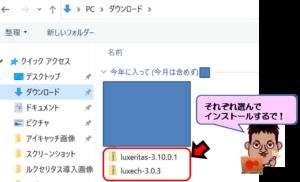 Luxeritas(ルクセリタス)テーマに関するパソコン本体のダウンロード画面