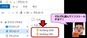 LIONBLOG(ライオンブログ)インストール画面