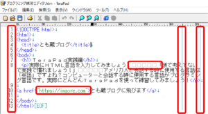 TeraPadおすすめ設定後の画面