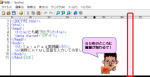 TeraPad表示設定変更後の画面