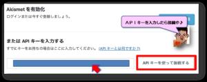 APIキー入力➡接続画面