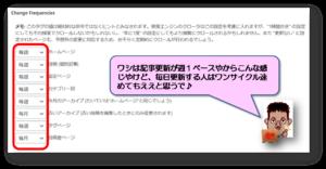 Google XML Sitemaps Change Frequencies設定