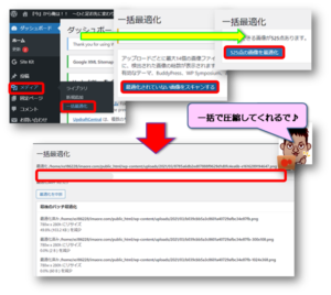 EWWW Image Optimizer一括最適化手順画像